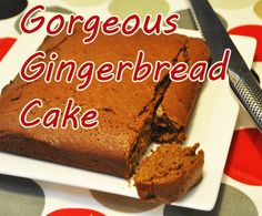 Gorgeous gingerbread cake.. yummy!