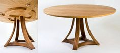 rippled ash dining table - Cimitree