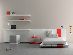 How cool is this kids furniture from Spanish company BM? Clean and modern, colors can be personalized, and you can mix and match the pieces however you want. Awesome. Too bad this stuff's not available here!
