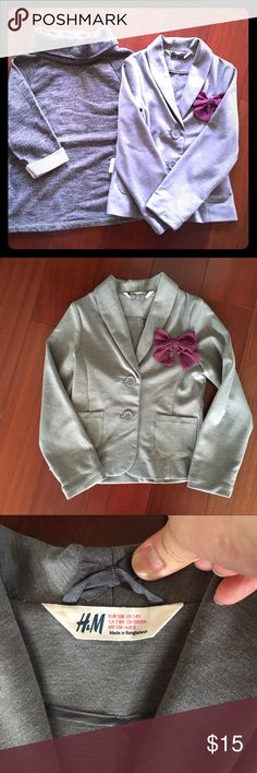 Girls sweater and jacket/blazer 2 girls tops  Gap size medium sweater H&M blazer 7-8  Great condition  Please come look through my closet, form a bundle and make an offer! Thank you in advance for coming through. H&M Jackets & Coats Blazers