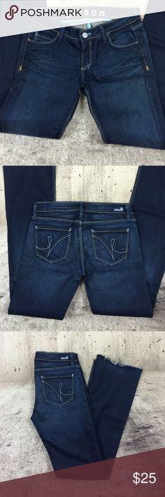 "Kitson straight leg rock me style Kitson straight leg rock me style  cotton and spandex blend no hem inseam 31"" rise 7"" Kitson Jeans Straight Leg"