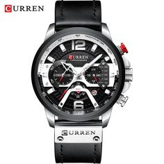 Curren Casual Sport Watches for Men Blue Top Brand Luxury Military Leather Wrist Watch Man Clock Fashion Chronograph Wristwatch Mens Sport Watches, Watches For Men, Cheap Watches, Popular Watches, Mens Luxury Brands, Casio G Shock, Casual Watches, Elegant Watches, Stylish Watches