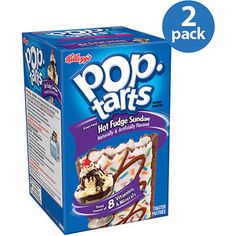 Kellogg's Pop-Tarts Frosted Hot Fudge Sundae Toaster Pastries, 8ct (Pack of 2)