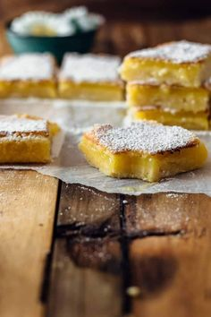 These Lemon Bars are sour and sweet and very easy to make. Just 7 ingredients! Best Ever Lemon Bars Recipe by Also The Crumbs Please Lemon Desserts, Lemon Recipes, Sweet Recipes, Baking Recipes, Cookie Recipes, Dessert Recipes, Brownie Recipes, Most Delicious Recipe, Delicious Desserts