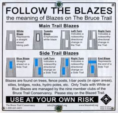 Blazes on the Bruce Trail Camping And Hiking, Backpacking, Canoeing, Kayaking, Pacific Crest Trail, Exploring, Woods, Flow, Places To Go