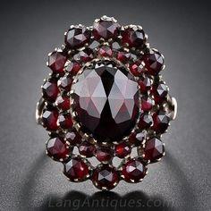 Český granát Antique Ring