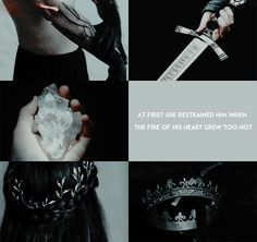 """Feanor and Nerdanel 2/2: """"Nerdanel also was firm of will, but more patient than Fëanor, desiring to understand minds rather than to master them, and at first she restrained him when the fire of his heart grew too hot; but his later deeds grieved her, and they became estranged. """""""