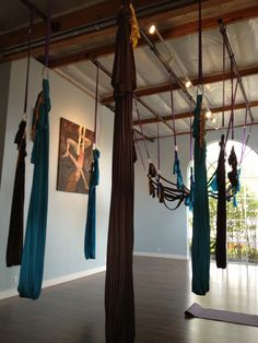 Aerial Yoga. my studio called The Yoga Studio in campbell california