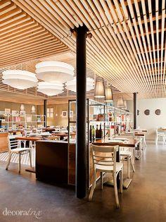 Basement ceiling idea -- slats