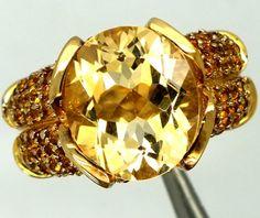 CITRINE SILVER RING 49.55  CTS  SIZE-7    RJ-262  citrine gemstone rings, multi fire gemstone rings,