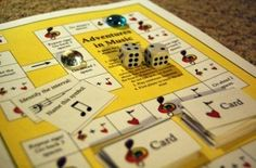 """Adventures in Music"" board game.  Download and print it for free!"
