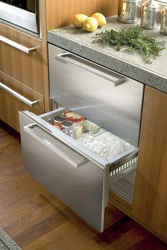 Tiroirs réfrigérateur/congélateur sous plan1