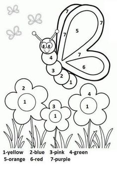 Spring Coloring Pages: Spring coloring sheets can actually help your kid learn more about the spring season. Here are top 25 spring coloring pages free Butterfly With Flowers Coloring Pages Silly Butterfly Coloring Page - Free Printable Coloring Book Page Coloring Worksheets For Kindergarten, Seasons Worksheets, Kindergarten Addition Worksheets, Kindergarten Colors, Preschool Coloring Pages, Free Kindergarten Worksheets, Number Worksheets, Pre Kindergarten, Reading Worksheets