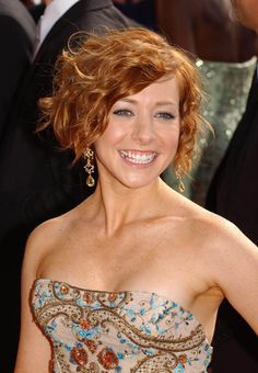 Alyson Hannigan poster, mousepad, t-shirt, Curly Hairstyles For Boys, Short Hairstyles Fine, Short Bob Haircuts, Undercut Hairstyles, Short Haircut, Party Hairstyles, Hairdos, Natural Hairstyles, Short Hair Undercut