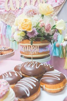 Donut theme Birthday Party Ideas | Photo 7 of 199