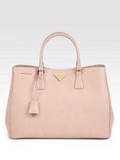 Prada Saffiano Lux Tote Bag. (Light Pink) Pink Prada Bag 250f5d19f5c