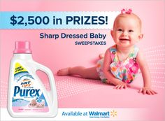 Enter to WIN $500 and a year's supply of Purex Baby detergent!