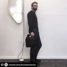 #Repost @noeduchaufourlawrance  Ready to go! My bag designed with  @atelier_saint_loup for the cabinet of curiosities of @thomas_erber. A landscape of functions  that you can assemble or use individually. Hosted @lesbainsparis from nov 23rd to dec 24th  #leather #bag #menbag #cabinetdecuriosites #thomaserber #stloup #ndldesignstudio #noeduchaufourlawrance