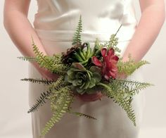 Succulent & Fern Wedding Bouquet for the Bride or by SoireeSupply, $55.95