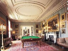 I love this billiard room at Althorp House in Northampton.