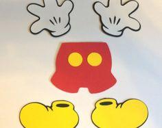 30 25 Mickey Mouse zapatos cortado con tintas por LeslisDesigns