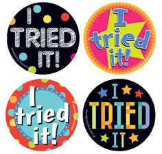 I Tried It Stickers are a great reward for a child trying a new food! Roll of 200 stickers for $6.95