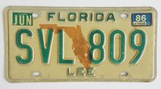 86+Lee+County+Florida+License+Plate $7.99 free shipping