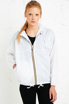 K-Way Claudette Waterproof Jacket in White - Urban Outfitters