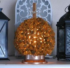 Have you seen putka pods yet? These dried fruit pods look like tiny little pumpkins and are trending in fall home décor this year. Sure, you could use them as filler in vases or candle holders but that's what's everyone else is doing with them. Pumpkin Topiary, Pumpkin Candles, Pumpkin Centerpieces, Diy Pumpkin, Little Pumpkin, Plastic Pumpkins, Fabric Pumpkins, Fall Pumpkins, Fall Home Decor