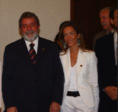 Foto de Lula da Silva y Mercedes López Caparrós (Brasilia 2003) - Mercedes Lopez Caparros