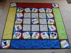 Mickey Mouse Clubhouse Quilt -- Custom Made To Order For Disney Fans