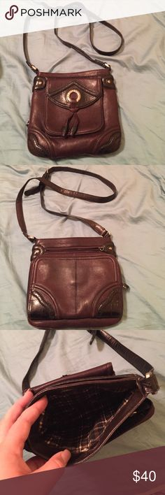 Cross body purse Super cute cross body purse with adjustable strap! Perfect size for a night out! Brighton Bags Crossbody Bags