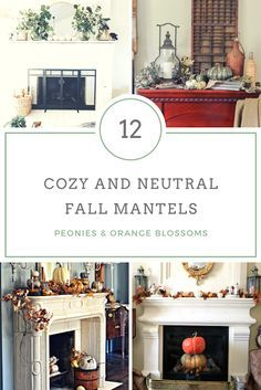 12 Cozy and Neutral Fall Mantel Decor Ideas