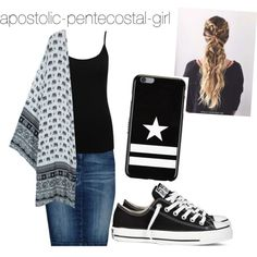A fashion look from April 2016 by apostolic-pentecostal-girl featuring M&Co, Armani Jeans, Converse and Givenchy