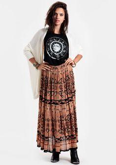 Sacred Place Maxi Skirt By Raga 84.00 at threadsence.com
