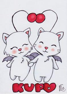 ORIGINAL ART - Kupo Love by Lady Otaku, original marker sketch on 3.5X5 card