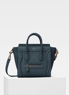 89aa5d45be4 Nano Luggage bag in baby drummed calfskin   CÉLINE Celine Nano Luggage,  Celine Nano Bag