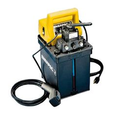 Enerpac Submerged Electric Pump with 3 Way Tandem Center Valve and Heat Exchanger Relief Valve, Hydraulic Pump, Heat Exchanger, Tandem, Remote, Pumps, Electric, Productivity, Industrial