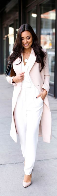 MILLY WHITE JUMPSUIT / Fashion By Kat Tanita