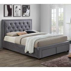 Lumburn - Slatted Storage Bed Frame In Grey Fabric - Bed Frames - Fishpools King Size Storage Bed, Bed Frame With Storage, Bed Storage, Drawer Storage, Fabric Storage, Bedroom Storage, Extra Storage, Grey Bedding, Luxury Bedding