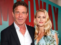 Surprise! Dennis Quaid and  Laura Savoie are Married with more than 27 years age difference Jeremy Piven, Meg Ryan, Meredith Blake, Tom Wolfe, Race In America, Bikini Clad, The Right Stuff, New Girlfriend, Carrie Fisher