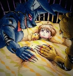 Our lullaby / Nightmare Bonnie N Chica FNaF 4 by Mizuki-T-A.deviantart.com on @DeviantArt