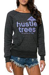 LRG The Hustle Trees Crewneck in Black