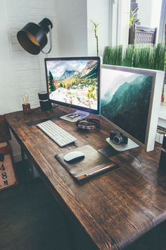 The table is just awesome! Industrial Style Designer Workspace by Vadim Sherbakov
