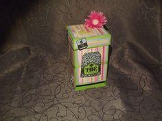 Boite à sachets de thé ou tisane en scrapbooking : Boîtes, coffrets par…