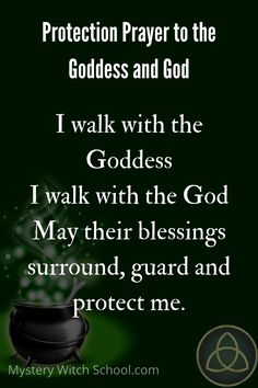 A protection prayer to the Wiccan Goddess and God. Witch Spell Book, Witchcraft Spell Books, Magick Book, Witchcraft Spells For Beginners, Healing Spells, Hoodoo Spells, Wiccan Spells, Good Luck Spells, Wiccan Quotes