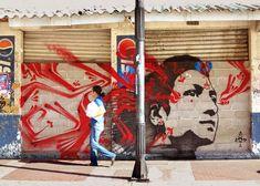 Street art in Santa Marta, Colombia by Stinkfish
