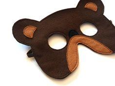 Bear Felt Children Mask Kids Carnival Mask Dress up by BHBKidstyle, €12.00