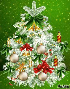 Christmas Tree Gif, Merry Christmas Pictures, Merry Christmas Wishes, Cozy Christmas, Christmas And New Year, Christmas Tree Decorations, Christmas Wreaths, Christmas Cards, Xmas