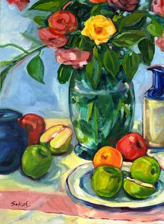 Beautiful still life painting.